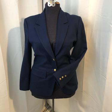 Pendleton Navy blue blazer wool 1970s vintage sailor M 6 by RadioRadioVintage