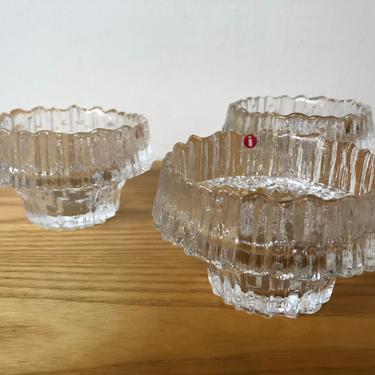 Tapio Wirkkala Stellaria Glass Tealight Candle Holder Set of 3 by Moderndesign20