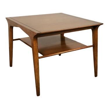John Van Koert for Drexel Profile Mid-Century Modern Walnut End Table / Nightstand by modernmidcenturyfurn