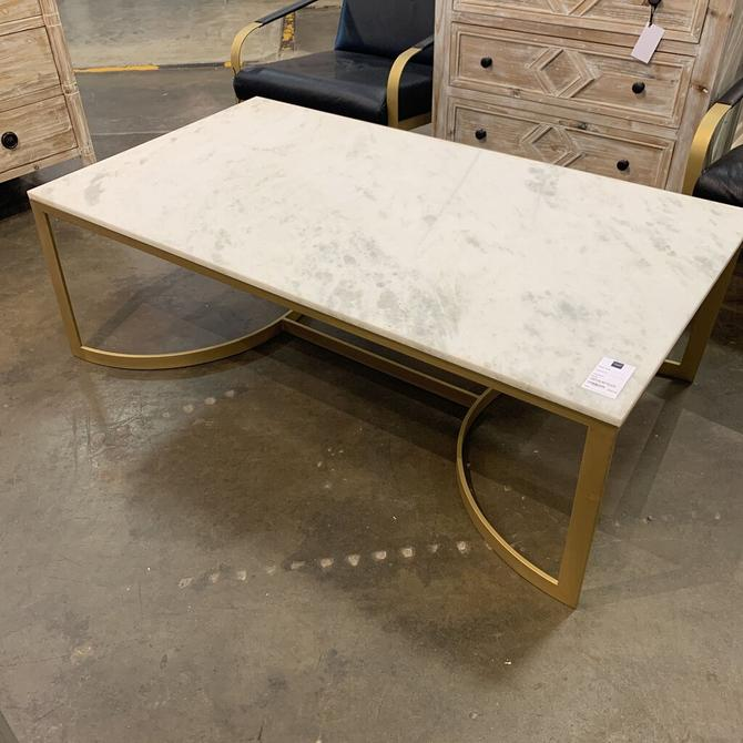 marble top gold leg coffee table in1910-300
