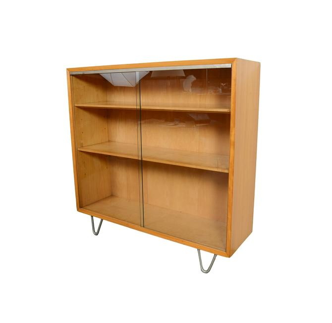 George Nelson Herman Miller Glass Front Bookcase Hairpin Legs Cabinet Mid Century Modern Primavera by HearthsideHome