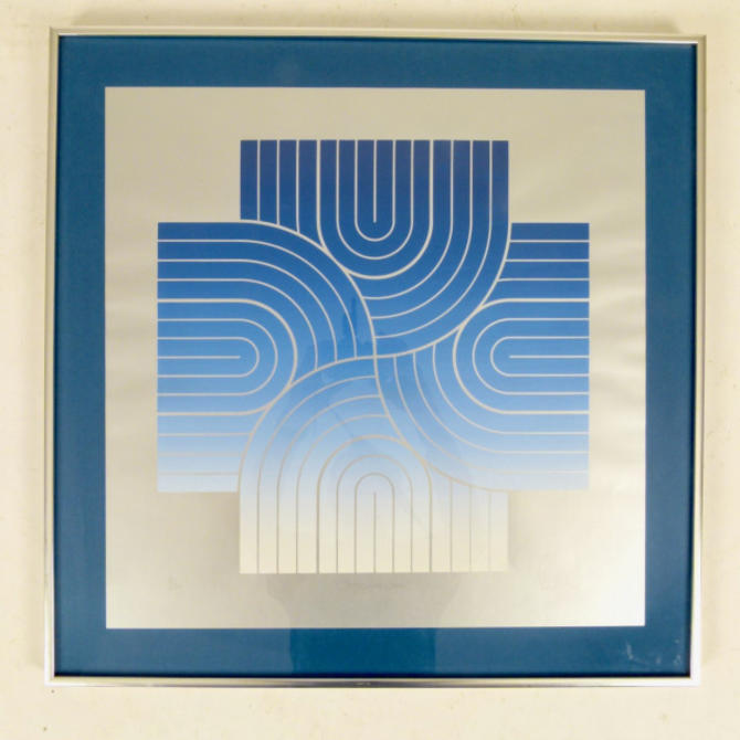1968 Geometric Lithograph