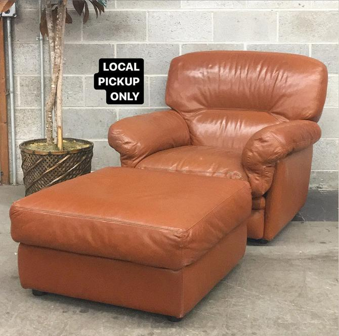 LOCAL PICKUP ONLY ———— Vintage Lounge Chair + Ottoman by RetrospectVintage215