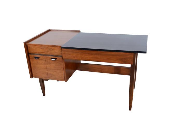 Walnut Desk Made By Hooker Furniture Mid Century Modern By