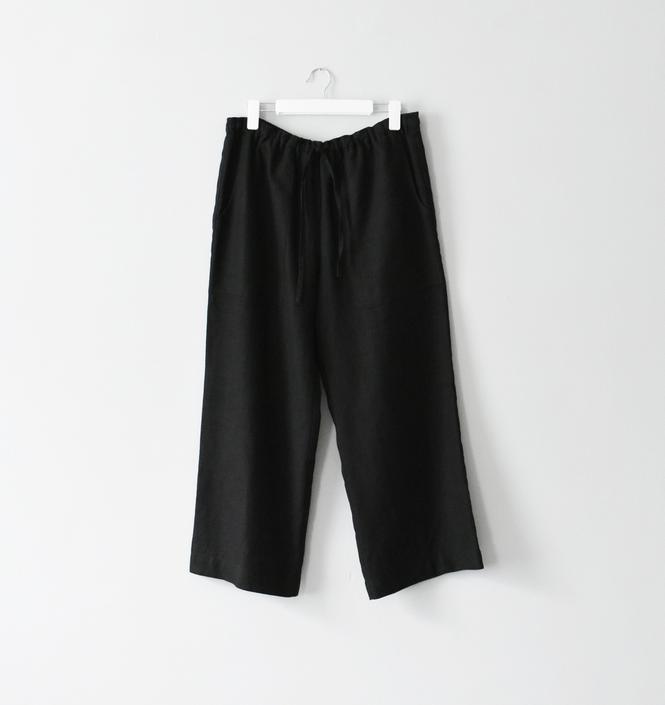 vintage Eskandar black linen pants, size L by ImprovGoods
