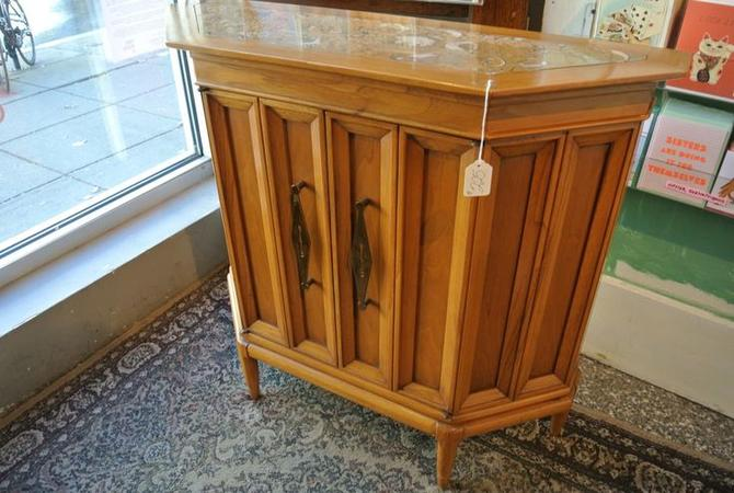 Marble topped console. $225
