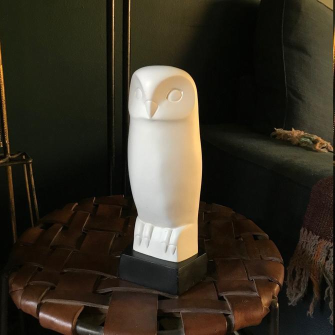 1960s Cleo Hartwig White Owl Mid-Century Modern Mad Men Sculpture Vintage Mid-Century Rare Bird by BrainWashington
