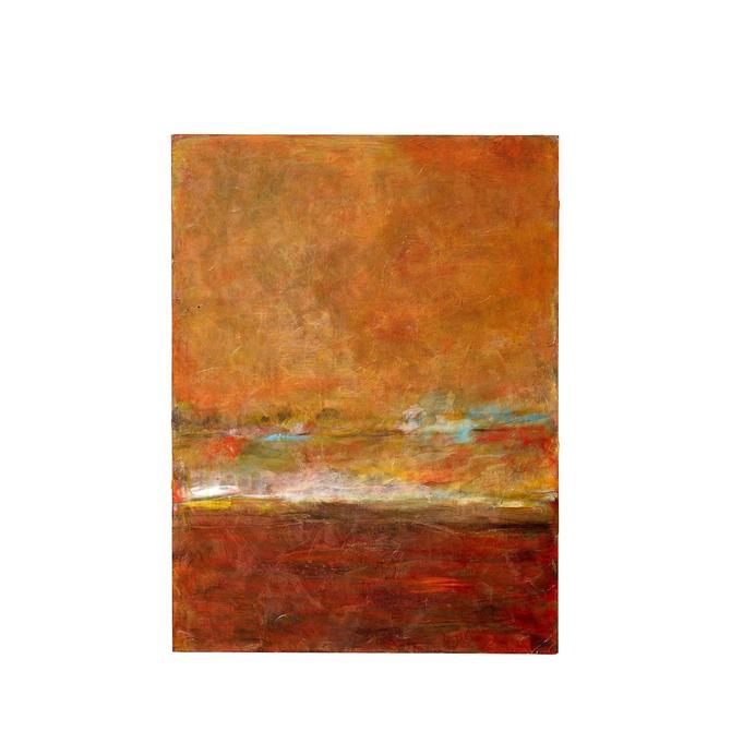 Abstract acrylic on canvas painted by Texas artist Marthann Masterson by PeachModern