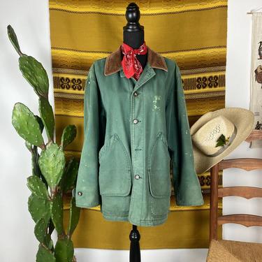 Vintage LL BEAN Canvas Chore Coat Men's Medium-Large by DesertCactusVintage
