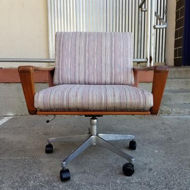 Danish Modern Teak Swivel Desk or Office Chair by Komfort by JanakosAndCompany