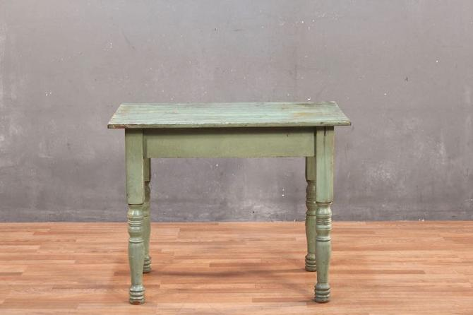 Rustic Patina Green Farm Table