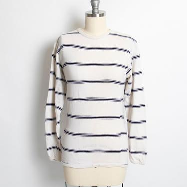 1970s T-Shirt Striped Long Sleeve Tee Shirt XS Extra Small by dejavintageboutique