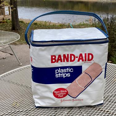 Vintage Johnson & Johnson Band Aid Advertising Cooler by Walkingtan