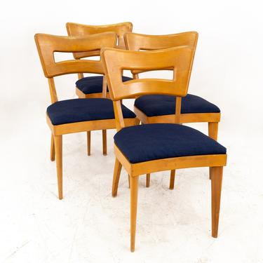 Heywood Wakefield Dog Bone Mid Century Solid Wood Dining Chairs - Set of Four - mcm by ModernHill