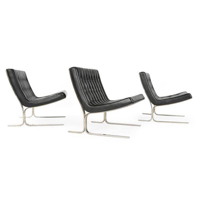 Set of Three Lounge Chairs
