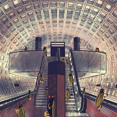 Cicadas in the Metro - LIMITED EDITION PRINT