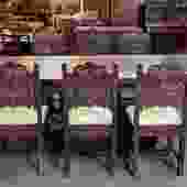 Item #CSN1 Vintage Oak Jacobean Style Dining Set c.1920s
