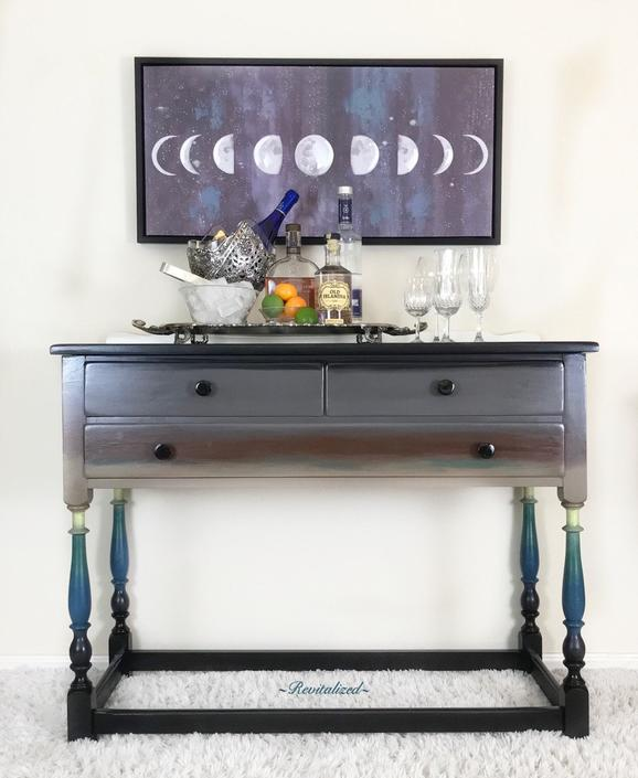 Icelandic Inspired Sideboard Bar Entry Table Coffee Bar by RevitalizedStore