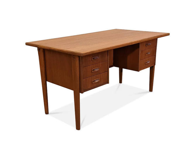Vintage Danish Mid Century Teak Desk - Kai Mig by LanobaDesign