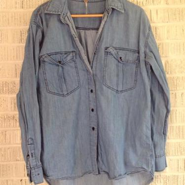 Free People Size M Chambray Top
