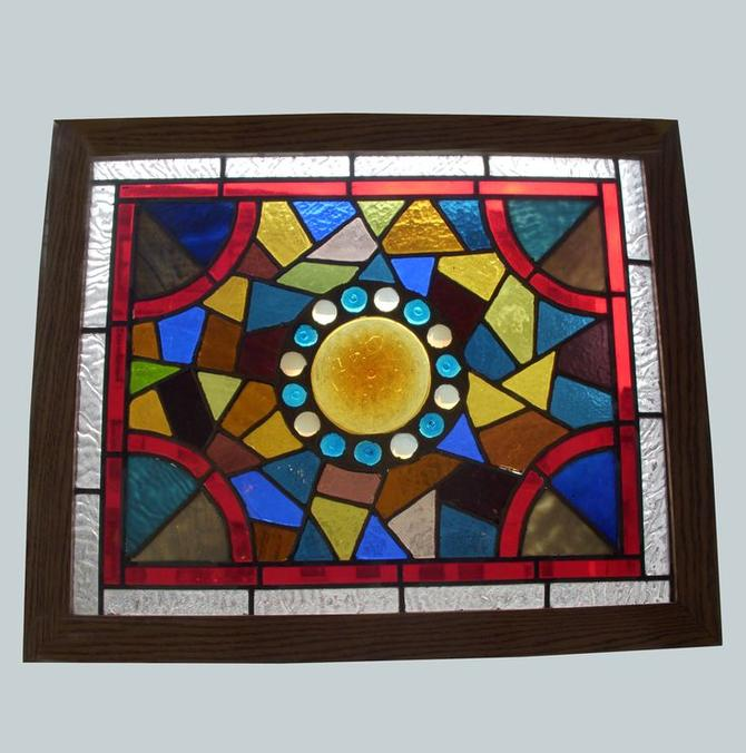 1880's Queen Anne stained glass window