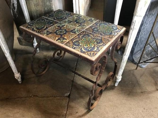 SPANISH TILE SIDE TABLE