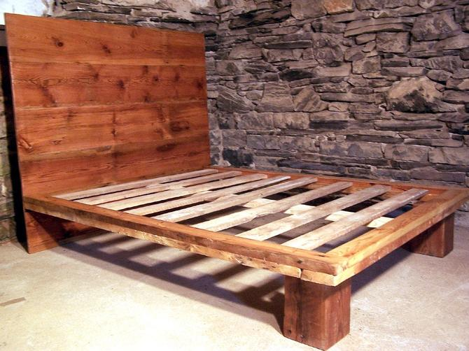 The Studio - Modern Platform Bed from Reclaimed Wood by BarnWoodFurniture