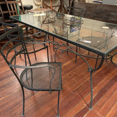 Vintage Outdoor Table and Chairs by coloniaantiques