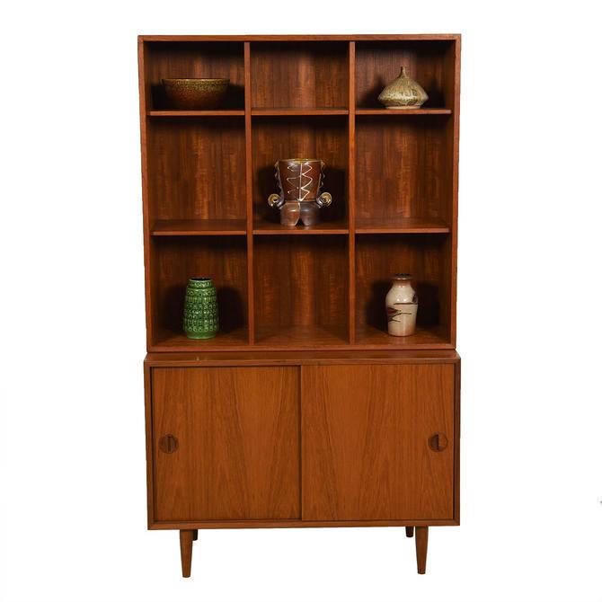 2-Piece Danish Teak Adjustable Display / Storage Cabinet