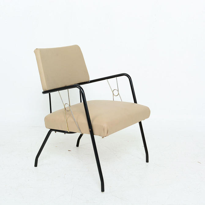 Sculptural Iron Patio Armchair Mid Century Style of Paul McCobb, Richard McCarthy by AMBIANIC