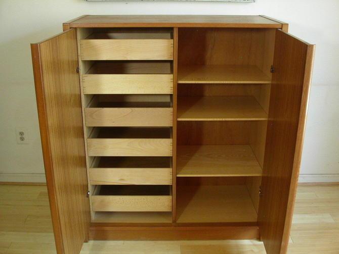 Danish Modern Teak Dresser Gentleman's Chest By Jesper of Denmark MCM Storage