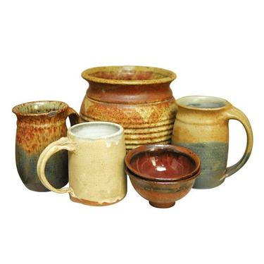 Assembled Set of Six Studio Pottery Collection by ErinLaneEstate