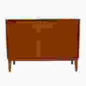 Vintage Mid Century Blonde Bar / Storage Cabinet
