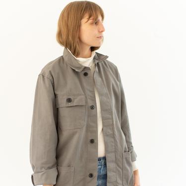 Vintage Grey Chore Jacket   Unisex Cotton Workwear Style Utility Work Coat Blazer   Made in Italy   S M   IT061 by RAWSONSTUDIO