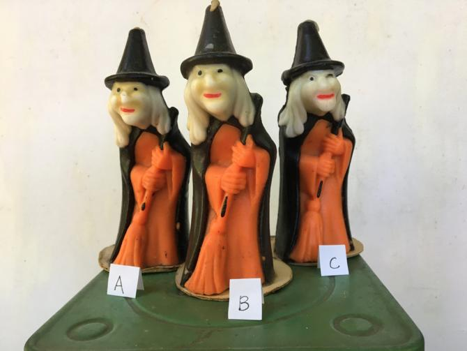 Vintage Gurley Witch Your Choice A, B, C, Halloween Witch Candle, Hag Candle by luckduck