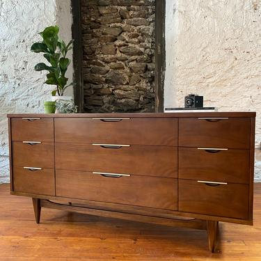 Mid century dresser Kent Coffey nine drawer dresser mid century modern chest of drawers by VintaDelphia