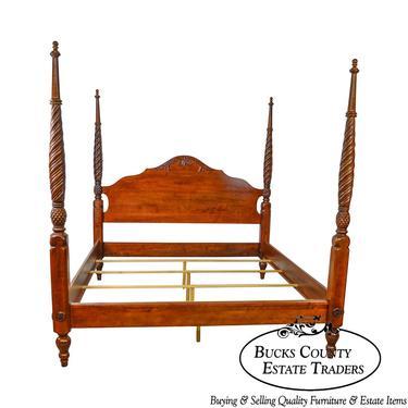 Ethan Allen British Classics King Size Cinnabar Plantation Poster Bed by BucksEstateTraders