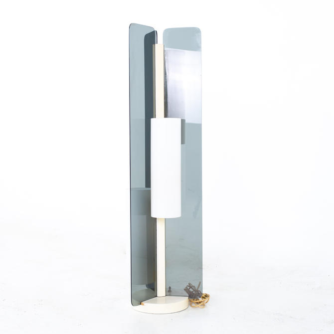 Modeline Mid Century Smoked Lucite Floor Lamp - mcm by ModernHill