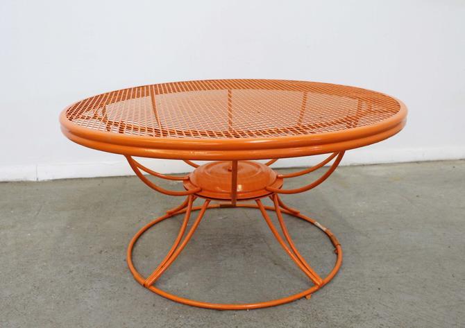 Mid-Century Modern Homecrest Bottemiller Round Patio Swivel Coffee Table by AnnexMarketplace