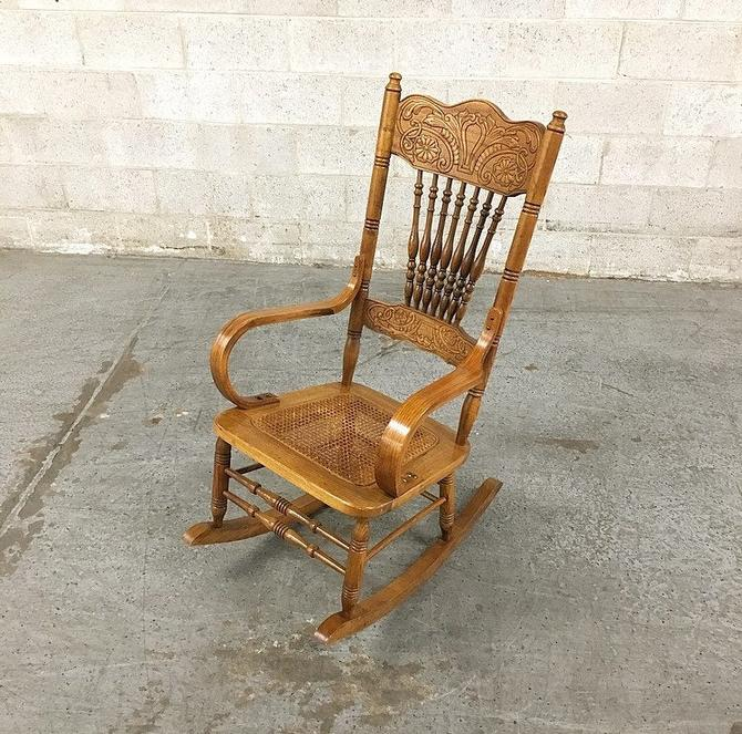 LOCAL PICKUP ONLY ----------- Vintage Rocking Chair by RetrospectVintage215