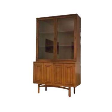 MCM Broyhill Sculptra Walnut China Cabinet, Mid Century Modern Credenza & Hutch, MCM Furniture by VivaLaVintagedotTX