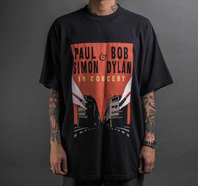 Vintage 1999 Bob Dylan Paul Simon Tour T-Shirt by MillsAveVintage