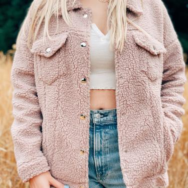 Brand New Boho Fuzzy Sherpa Jacket by MadroneClothing