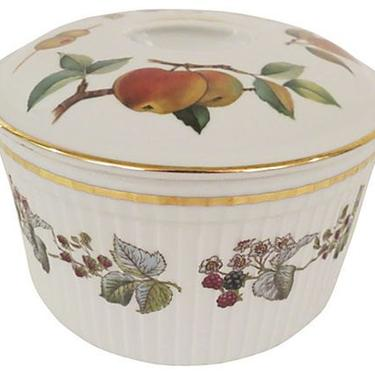 Royal Worcester Porcelain Tureen, English Royal Worcester Tureen by BostonVintageStudio