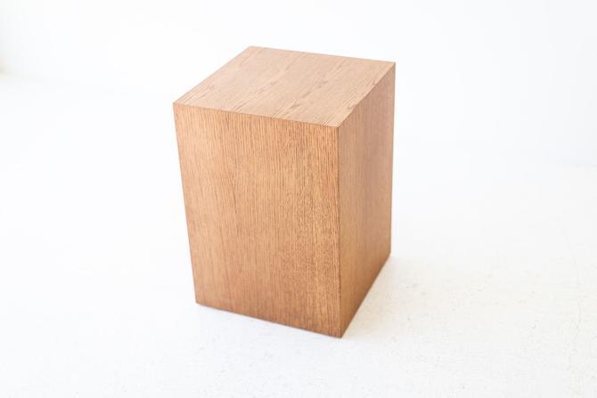 Modern Wood Side Table in Oak by BertuHome