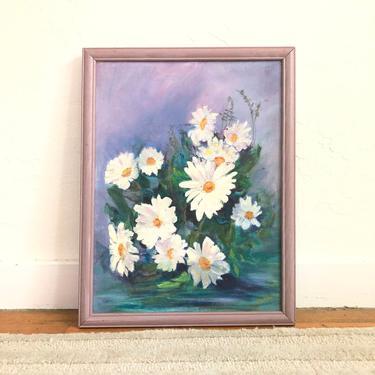 Vintage Lavender Floral Oil Painting by SergeantSailor