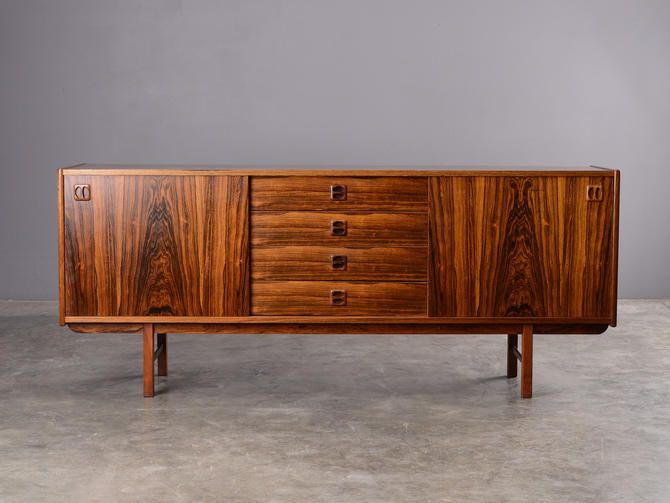 6ft Mid Century Rosewood Sideboard Credenza Danish Modern by MadsenModern