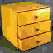 Vintage Storage, 3-Drawer Plastic Container - Perfect for Kids, Jewelry, Craft Room or Desk Accessory - Sunshine Yellow | FREE SHIPPING by Trovetorium