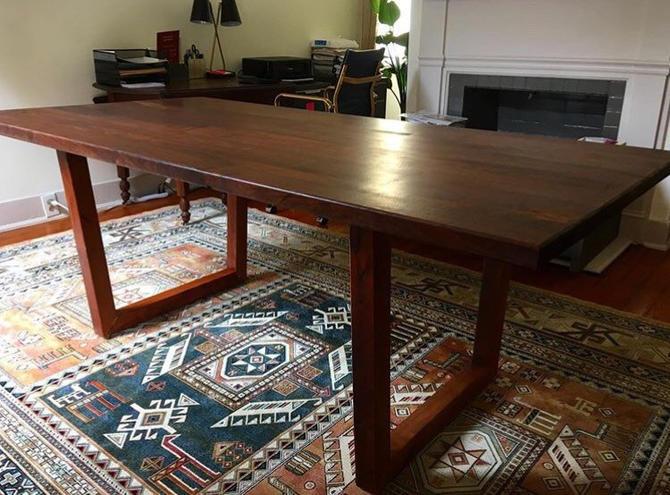 Walnut Diningg Table by twoboltsstudios