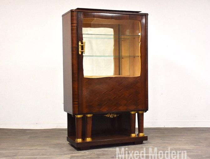 Art Deco Macassar Display Cabinet by Christian Krass by mixedmodern1